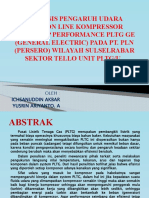 Pengaruh Udara Suction Line Kompresor Terhadap Performance Pltg
