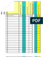 My Grocery List Spreadsheet TEMPLATE