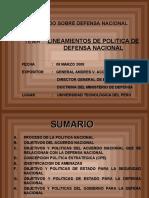 Política de Seguridad y Defensa Nacional_08 Marzo