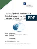An Analysis of Scandinavian M&a 2001-06