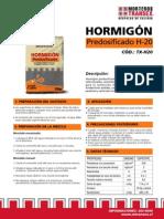 Tranesx-Hormigon Predosif H20