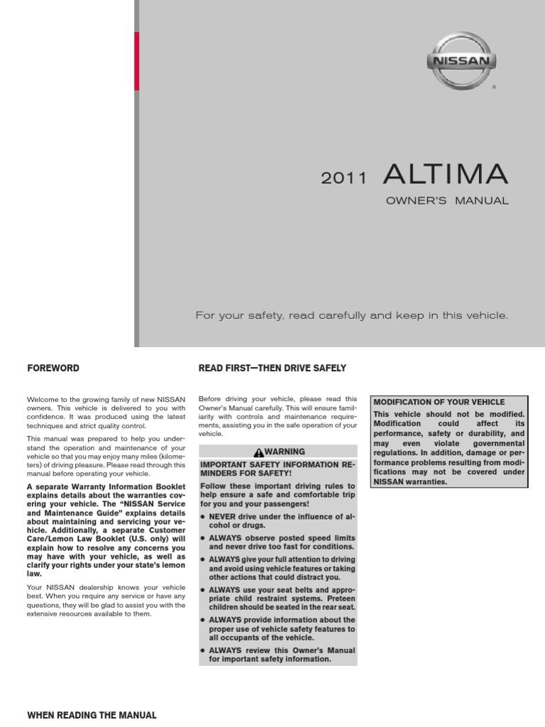 Nissan Altima: Speaker Adaptation (SA) mode