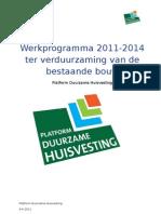 Werkprogramma Platform Duurzame Huisvesting