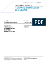 LIGHTWATER GRANGE MANAGEMENT COMPANY (NO.1) LIMITED    Company accounts from Level Business