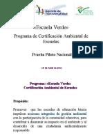 Programa de certificación ambiental de escuelas