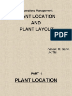 Plant Location and Plant Design