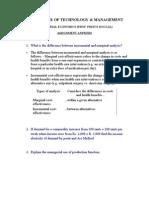 Manege Rial Economics Assignment