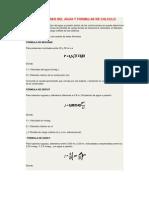 Velocidades Del Agua y Formulas de Calculo