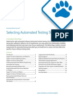 Selecting Automated Testing Tools