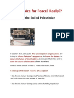 Jewish Voice for Peace? Really?? - By Nahida the Exiled Palestinian
