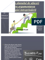 Alicarea Planului de Afaceri Pentru Argument Area Strategiei Intreprinderii