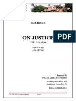 Review of on Justice