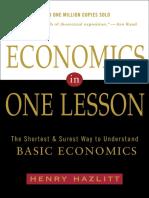 Economics in One Lesson by Henry Hazlitt - Excerpt