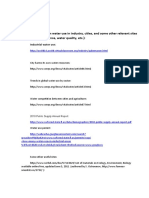 Useful sites. water use in industry.water quality http://www.scribd.com/doc/57211985