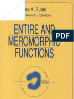 Entire and Meromorphic Functions