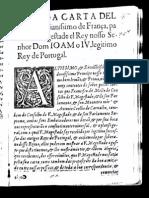 Carta de Luís XIII de França a João IV de Portugal