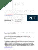 Error Analysis Final Assignment