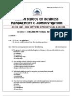 Org Beh (S) MBA