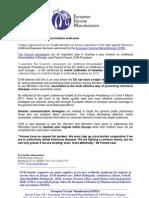 EVM Press Release - Childhood Immunisation Council Conclusions 060611