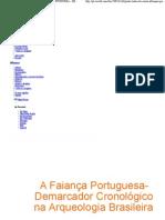 paulo tadeu de souza albuquerque A FAIANÇA PORTUGUESA - DEMARCADOR CRONOLÓGICO