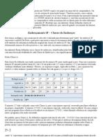 Endereçamento IP – Classes de Endereços