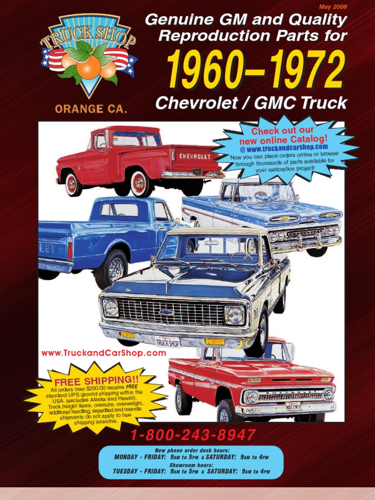 catalog of chevy truck id numbers 1946 1972 pickup suburban and el camino cars parts magazine matching numbers series