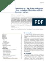 Infections dues aux bact�ries ana�robies de la flore endog�ne (Clostridium difficile et Actinomyc
