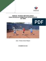 Manual Tecnico Metodologico Para Escuelas Formativas Estrategias de Tenis