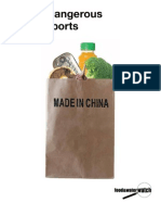 A Decade of Dangerous Food Imports from China