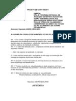 Projeto de Lei nº 148/2011 - Cria o programa de aquisição de imóveis usados aos moradores de área de risco