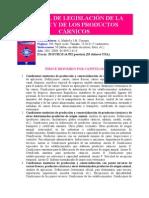 MANUAL DE LEGISLACIÓN DE LA CARNE Y DE LOS PRODUCTOS CÁRNICOS
