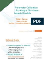 DatapointLabs / APPLUS+ Idiada Presentation - Simulia Customer Conference 2011