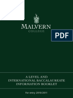 Malvern - A Level and IB Booklet