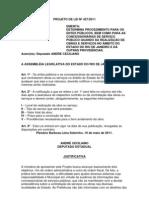 Projeto de Lei nº 427/2011 - Estabele critérios para obras públicas no município do Estado