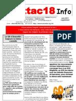 Attac18 Info 2011. Juin-juillet