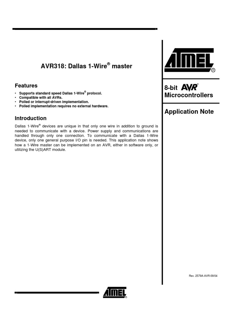 Avr318 Onewire Over Uart | Device Driver | Parameter (Computer ...