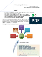 Case Study on Pricing Strategy s Effectiveness