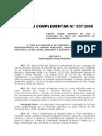 Ribeirão das Neves - Lei Complementar 037-2006 Uso e Ocupacao o Do Solo