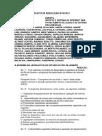 Projeto de Resolução nº 82/2011 - Institui o sistema de internet sem fio na Alerj