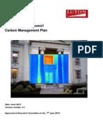 Luton Borough Council Carbon Management Plan June 2010