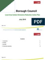 Luton Borough Council Local Area Carbon Emissions Reduction Action Plan July 2010