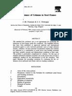 Fire Resistance of Columns in Steel Frames