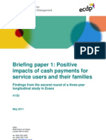 Personalisation briefing 1 - Positive Impacts of Cash Payments