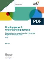 Personalisation briefing 2 - Understanding Demand