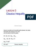 Lecture 3 Clausius Inequality