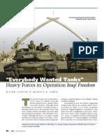 Tanks&Operation Iraqi Freedom I