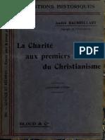 Baudrillart. La charité aux premiers siècles du christianisme. 1907.
