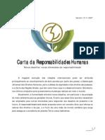 Carta Das Responsabilidades Humanas