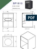 planos de bafles - gabinetes acústicos - bp1810 - 2 hojas
