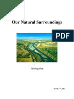Kindergarten Science Unit- Our Natural Surroundings